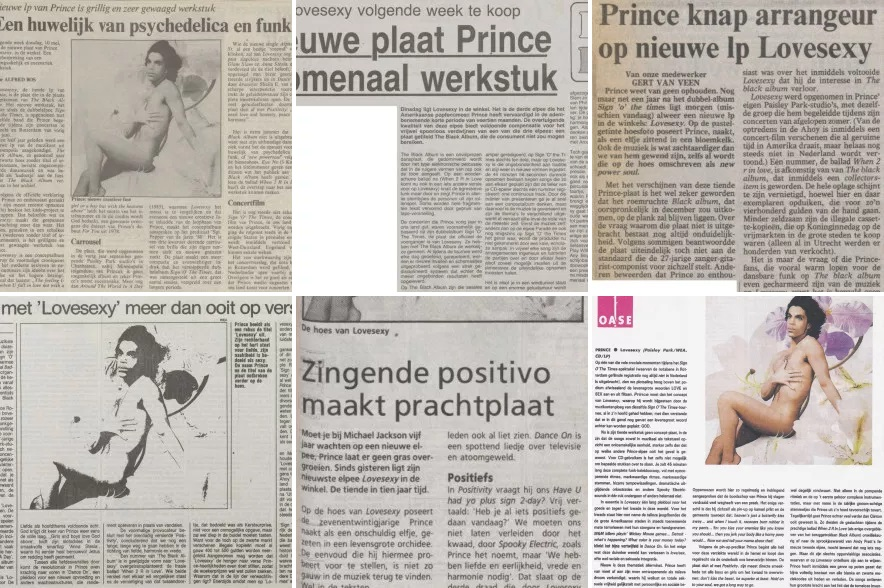 Prince - Lovesexy - Reviews Dutch publications (apoplife.nl)