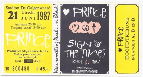Prince 21-06-1987 concertkaartje (apoplife.nl)