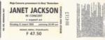 Janet Jackson 21-03-1995 concertkaartje (apoplife.nl)