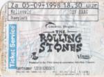 The Rolling Stones 05-09-1998 concertkaartje (apoplife.nl)