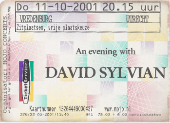 20011011 David Sylvian