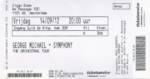 George Michael 14-09-2014 concertkaartje (apoplife.nl)
