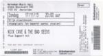 Nick Cave & The Bad Seeds 17-11-2013 concertkaartje (apoplife.nl)