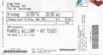 Pharrel Williams 23-09-2014 concertkaartje (apoplife.nl)