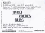 Morrissey 28-10-2014 concertkaartje (apoplife.nl)