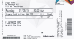 Fleetwood Mac 01-06-2015 concertkaartje (apoplife.nl)