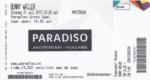 Bunny Wailer 21-07-2015 concertkaartje (apoplife.nl)