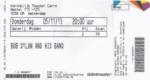 Bob Dylan 05-11-2015 concertkaartje (apoplife.nl)