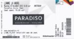 Lianne La Havas 30-11-2015 concertkaartje (apoplife.nl)