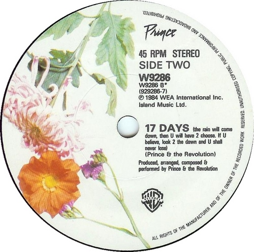 17 Days (B-side When Doves Cry maxi-single), 1984