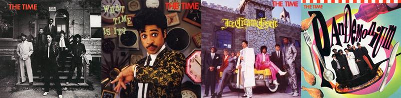 The Time: The Time, What Time Is It?, Ice Cream Castle & Pandemonium (albums, 1981, 1982, 1984 & 1990)