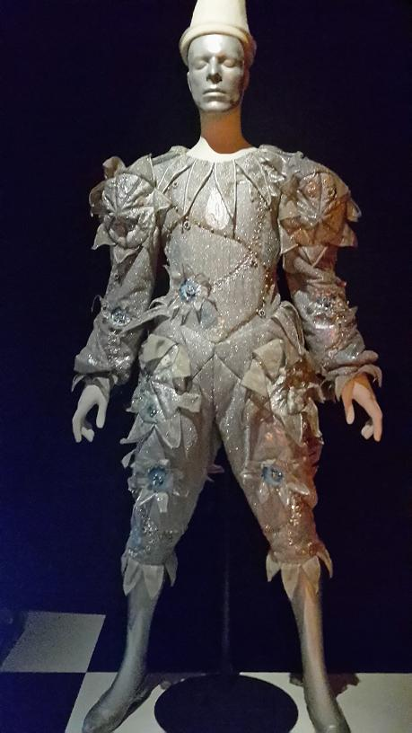 David Bowie Is Scary Monsters suit