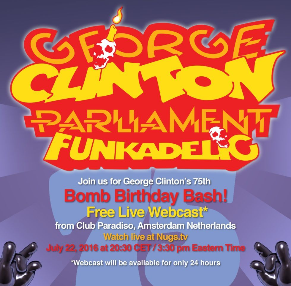 George Clinton 22-07-2016 Birthday Poster