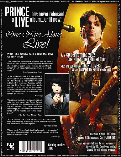 Prince - One Nite Alone... Live! Ad (flickr.com)