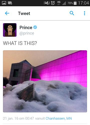 Prince tweet 01/21/2016 (Prince/twitter.com)