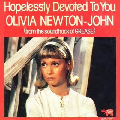 Olivia Newton John - Hopelessly Devoted To You (single) (45cat.com)