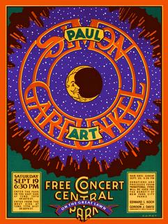 Simon And Garfunkel - Free Concert Poster (Michael Doret)