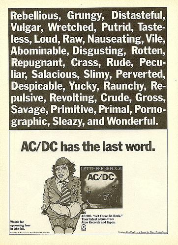 AC/DC - Let There Be Rock advertentie (flickdriver.com)