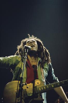 Bob Marley - Live juni 1977 Rainbow Londen (Adrian Boot)