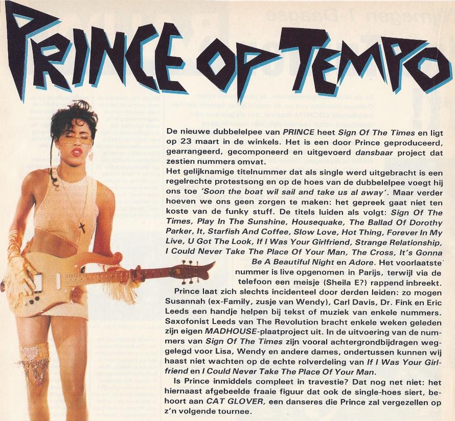 Prince - Sign O' The Times, aankondiging OOR 5, 07-03-1987 (OOR)