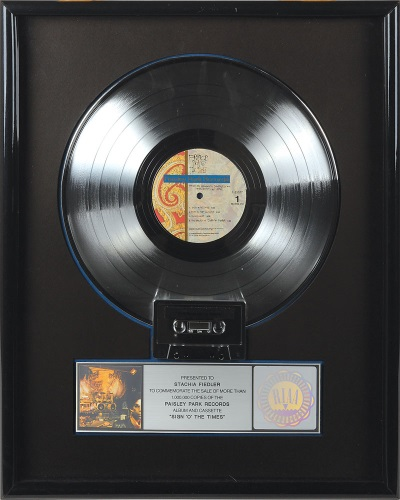 Prince - Sign O' The Times platinum award (rrauction.com)