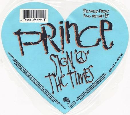 Prince - Sign O' The Times LP sticker (apoplife.nl)