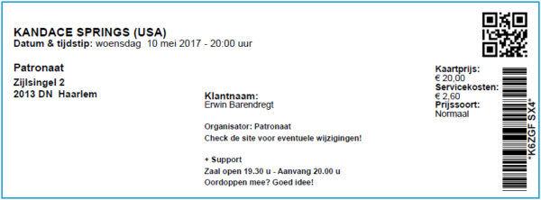 Kandace Springs 11-05-2017 Concertkaartje (apoplife.nl)