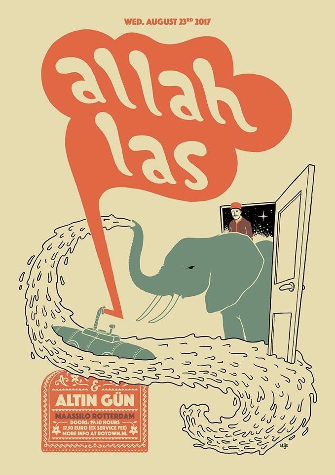 Allah-Las concert aankondiging (twitter.com/altingun)