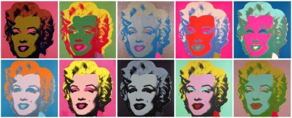 Andy Warhol's Marilyn Monroe (pinterest.com)