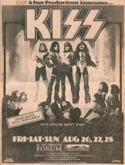 Kiss - Live augustus 1977 The Forum (pinterest.com)