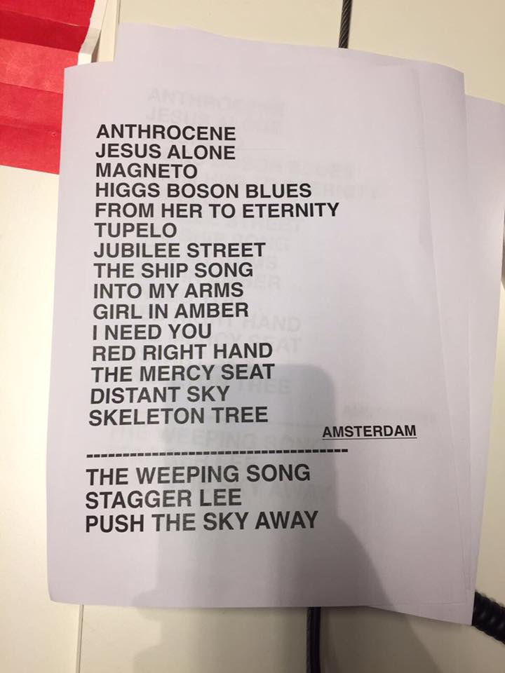 Nick Cave & The Bad Seeds 06-10-2017 Setlist (apoplife.nl)