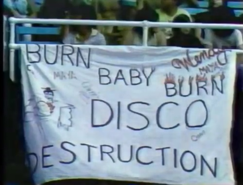 Banner on Disco Demolition Day (awfulannouncing.com)