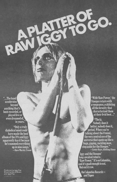 Iggy And The Stooges - Raw Power - Ad (superseventies.com)