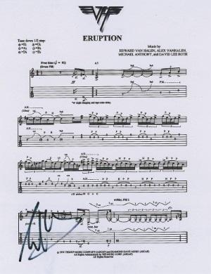 Eruption Sheet Music - Eddie Van Halen Initials (liveauctiongroup.net)