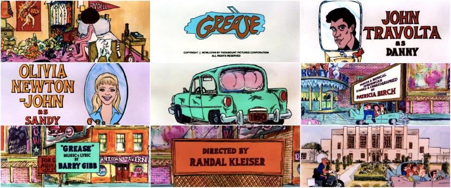Grease - Opening credits (artofthetitle.com)