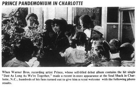 Prince - In store, 1978 (prince.org)