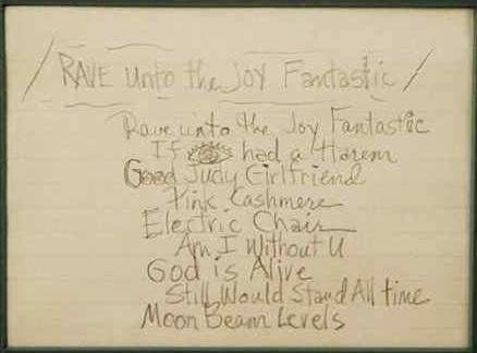 Prince - Rave Unto The Joy Fantastic - 1988 configuratie (prince.org)