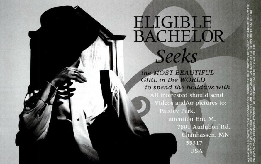 Prince - Eligible bachelor seeks (twitter.com)
