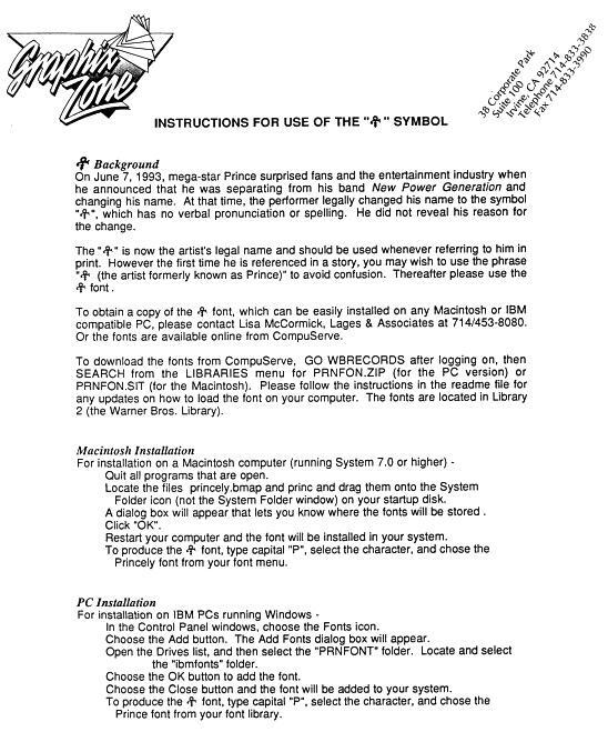 Prince - Font Graphix Zone instillation manual (anildash.com)