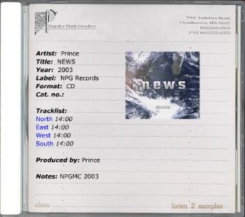 Prince - N.E.W.S. - flyer (onbekend)