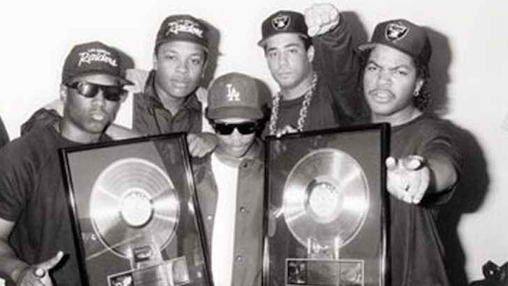 N.W.A. - Receiving a gold record (ambrosiaforheads.com)