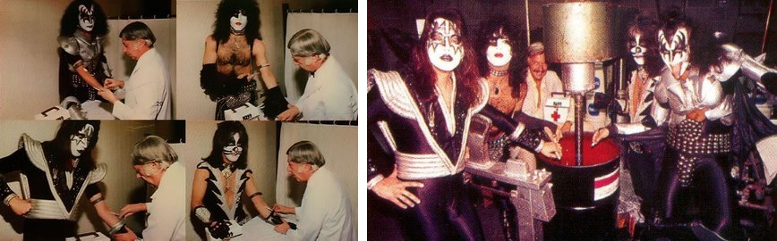 Kiss - Giving blood and adding it to the comic book ink (pinterest.com)