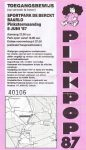 Pinkpop 06/08/1987 concert ticket (apoplife.nl)