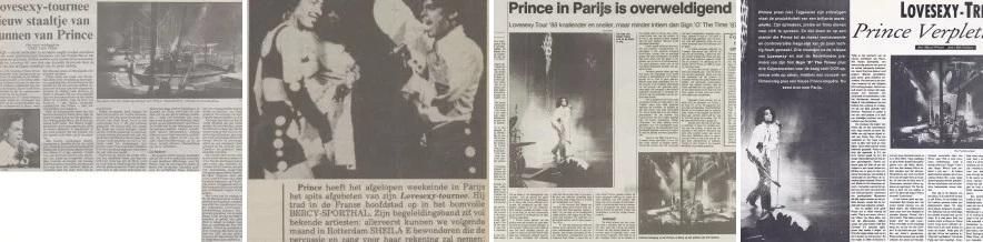 Prince - Lovesexy Tour - Paris - Reviews Dutch publications (apoplife.nl)