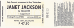 Janet Jackson 03/21/1995 concert ticket (apoplife.nl)