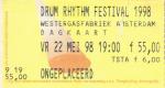 Drum Rhythm 05/22/1998 concert ticket (apoplife.nl)