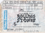 Rolling Stones 09/05/1998 concert ticket (apoplife.nl)