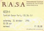 Aziza-A 10/31/1998 concert ticket (apoplife.nl)