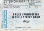 Bruce Springsteen 06/20/1999 concert ticket (apoplife.nl)
