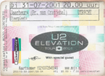 U2 07/31/2001 concert ticket (apoplife.nl)